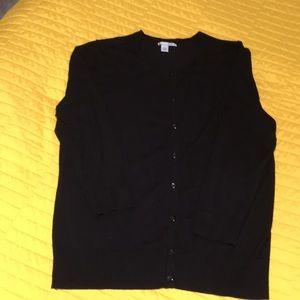 Black halogen cardigan